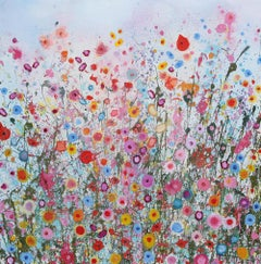 All of the Love Songs II - Abstract floral landscape oil painting modern art