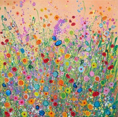 Here Comes the Sun Abstract Floral landscape painting  Art 21st Centu