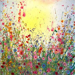 It's A Love Thing - Abstract Floral landscape oil painting  Art 21st Centu