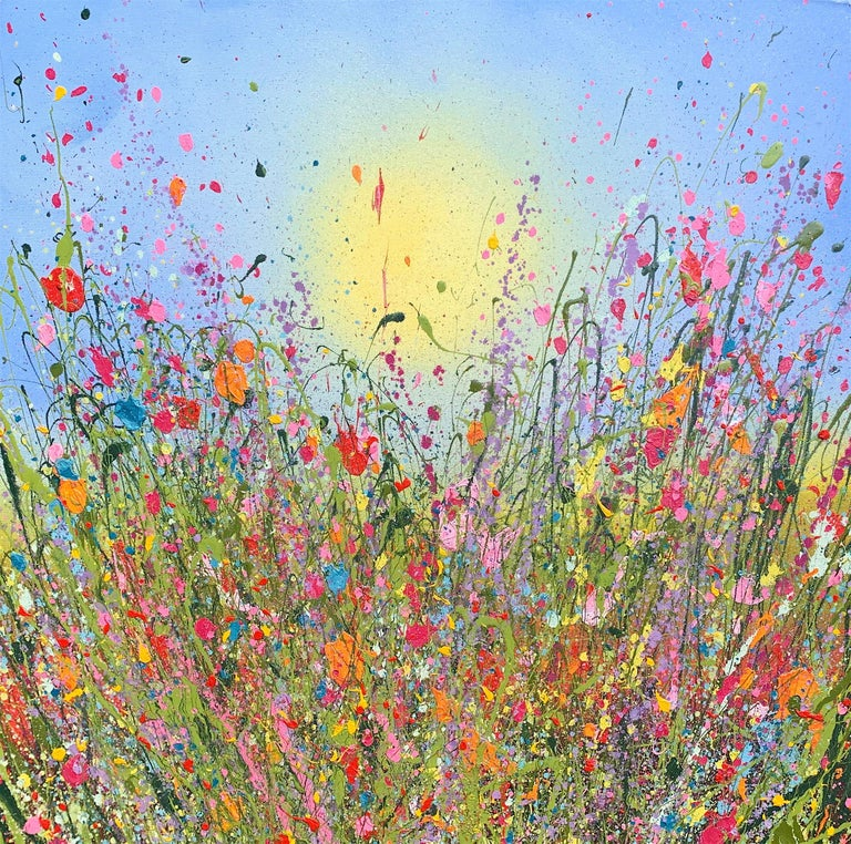 Yvonne Coomber Abstract Painting -  Kisses hold my dreams abstract oil landscape painting Contemporary 21 Century