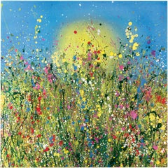 Magic Of Wild Dreaming - Floral abstract landscape oil painting Art 21st Century