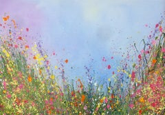 Summer Days original abstract oil landscape painting-Contemporary art