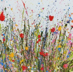 Summertime Beauty  original abstract floral landscape painting-Contemporary art