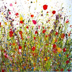 Summertime Beauty original abstract oil landscape painting-Contemporary art