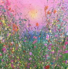 Sweet summer abstract Floral landscape painting Contemporary Art 21st Centu