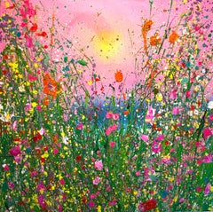 Sweet Summer Days original abstract oil landscape painting-Contemporary art