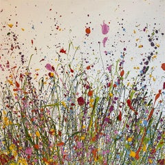 The Wild Flowers of My Heart Grow Here abstract landscape painting