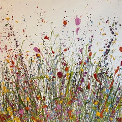 The Wild Flowers of my heart grow Here original abstract landscape painting
