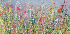 Wild Meadows of my Heart - Floral landscape modern oil painting Art 21st Century