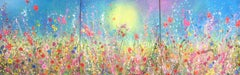 wildflowers of my heart original abstract landscape painting-Contemporary art