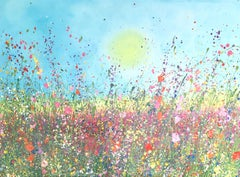 You Are All My Dreams Come True - Floral landscape painting  Art 21st Centu