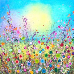 Your Love Is All I Ever Dreamt Of - Floral abstract modern landscape painting