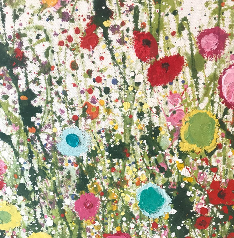 Your Sweet Love Is so Very Beautiful - Floral landscape oil painting 21st Centu - Painting by Yvonne Coomber