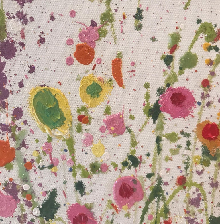 Your Sweet Love Is so Very Beautiful - Floral landscape oil painting 21st Centu - Abstract Impressionist Painting by Yvonne Coomber