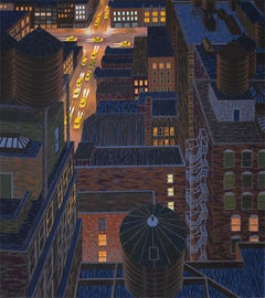 """Chelsea"" Yvonne Jacquette Print of New York City"