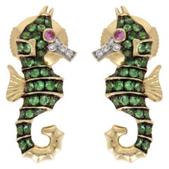 Yvonne Leon Contemporary Sea Horse Earrings