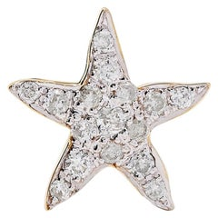 Yvonne Leon's Diamond Star Fish Earring in 18 Karat Yellow Gold