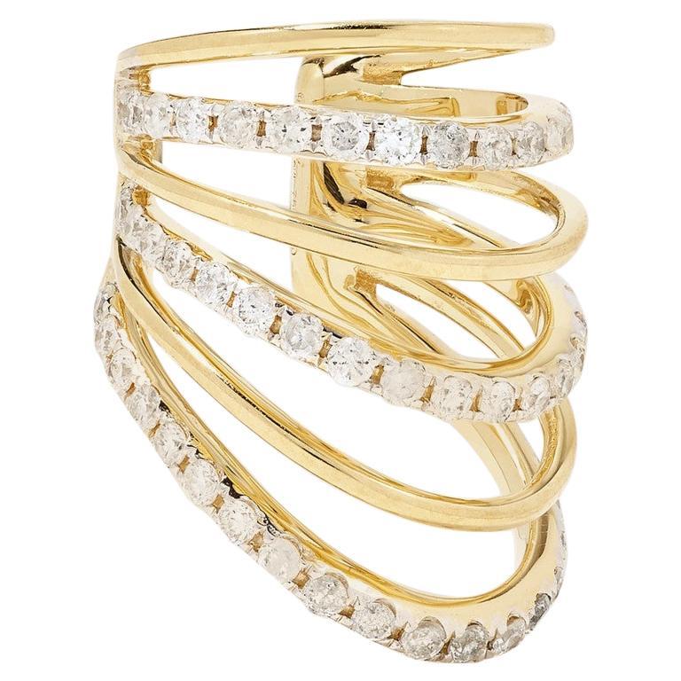 Yvonne Leon's Ear Cuff in 18 Karat Yellow Gold with Diamonds