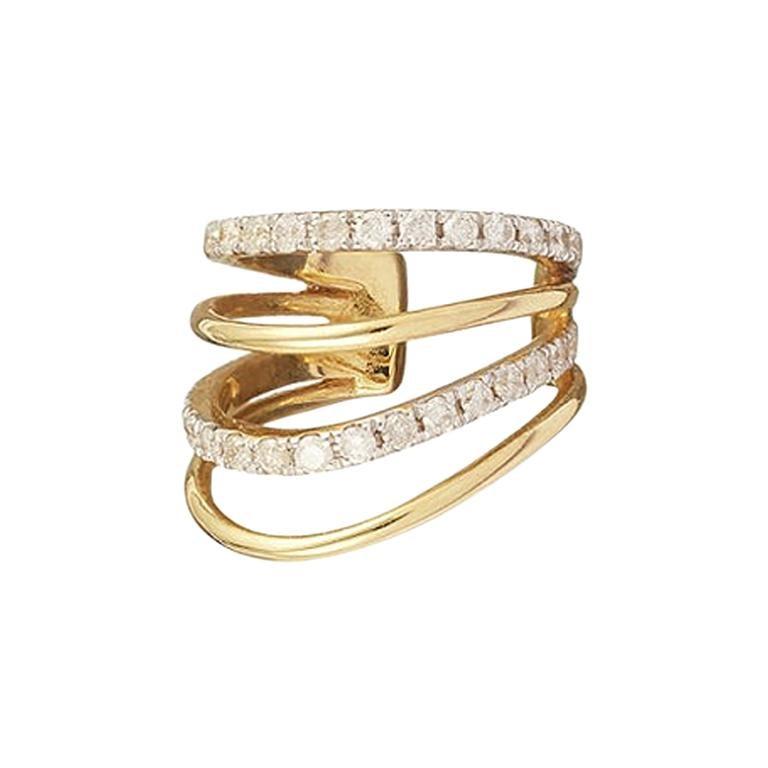 Yvonne Leon's Ear Cuff with 18 Karat Yellow Gold and Diamonds