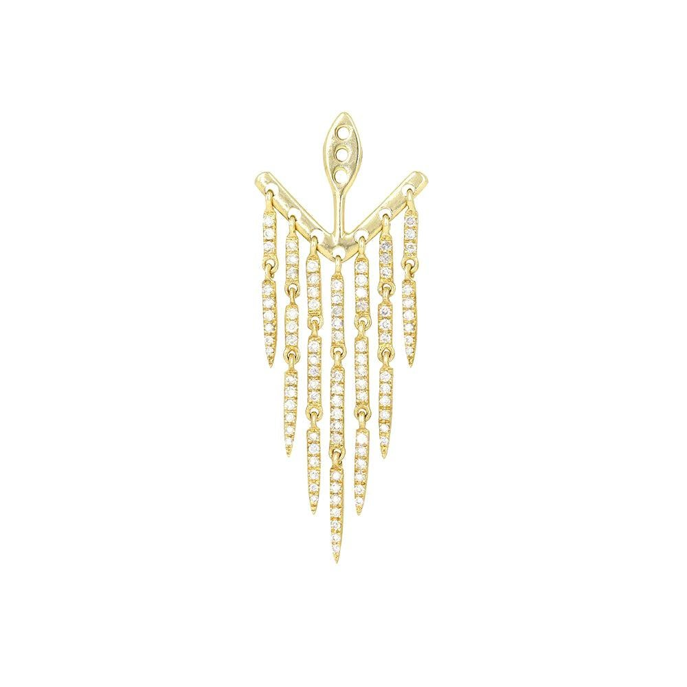 Yvonne Leon's Ear Jacket in 18 Carat Yellow Gold and Diamonds