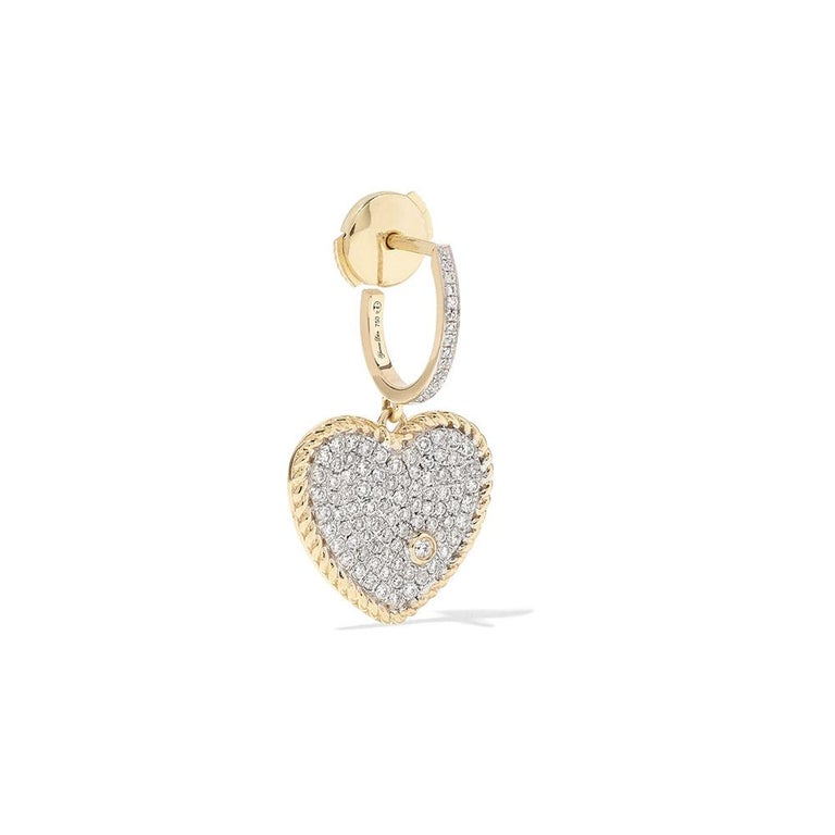 Earring in 18 Carats Yellow gold 5gr approx. Diamonds 0,60ct approx. Alpa system Sold as a Single Earring