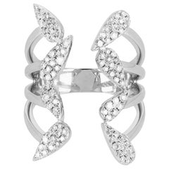 Yvonne Leon's Open Ring in 18 Karat White Gold with Diamonds