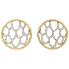 Yvonne Leon's Pair of Earrings in 18 Karat Yellow Gold with Diamonds