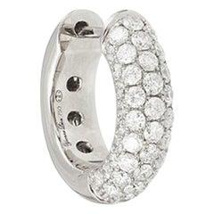 Yvonne Leon's Single Diamond Hoop Earring in White Gold 18 Karat