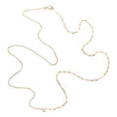 Yvonne Leon's Solitaire Necklace in 18 Karat Yellow Gold and Diamond