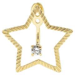 Yvonne Leon's Stud and Ear Jacket Star in 18 Karat Yellow Gold with Diamond