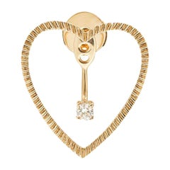 Yvonne Leon's Stud and Ear-Jacket in 18 Carat Pink Gold and Diamond
