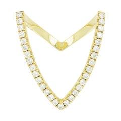 Yvonne Leon's Viviane Ring in 18 Karat Yellow Gold with Diamonds