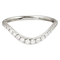 Yvonne Leon's Wave Ring in 18 Karat White Gold with Diamonds