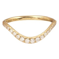 Yvonne Leon's Wave Ring in 18 Karat Yellow Gold and Diamonds