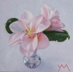 """Camelia's from my Garden,"" Oil Painting"