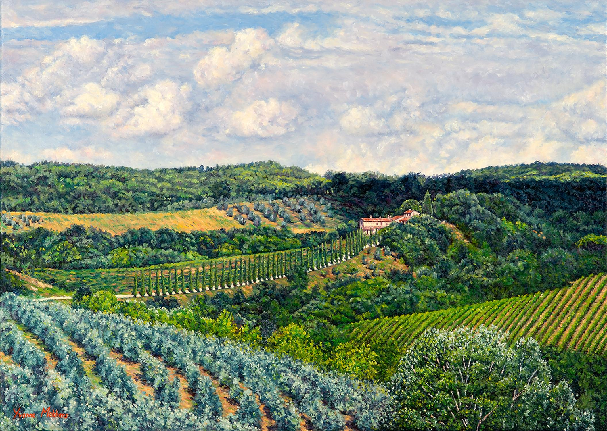 """""""Val Cortese/Tuscan Summer,"""" Oil Painting"""