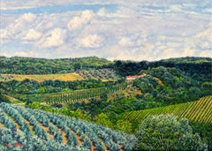 """Val Cortese/Tuscan Summer,"" Oil Painting"