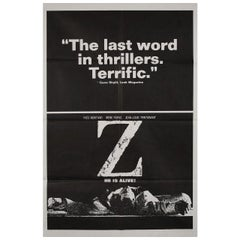 Z 1969 U.S. One Sheet Film Poster
