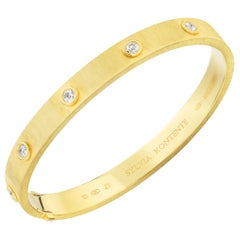 """Z"" Bracelet, 18 Karat Yellow Gold and Diamond, Z7"