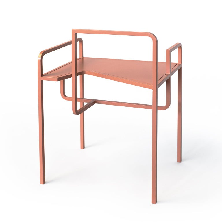 Modern Z Contemporary Chair in Metal For Sale