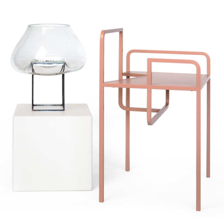 Powder-Coated Z Contemporary Chair in Metal For Sale