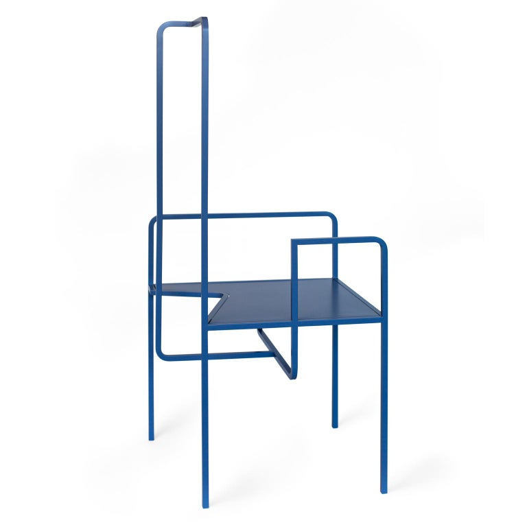 Z Contemporary Chair in Metal In New Condition For Sale In Berlin, DE