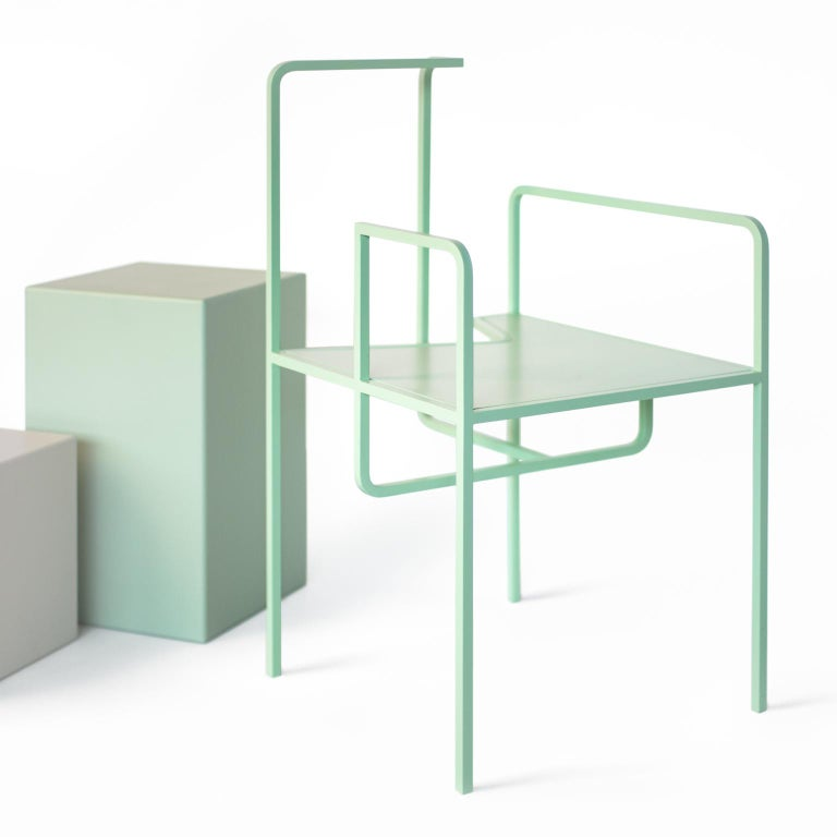 Z Contemporary Chair in Metal For Sale 2