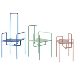 Z Contemporary Chair in Metal