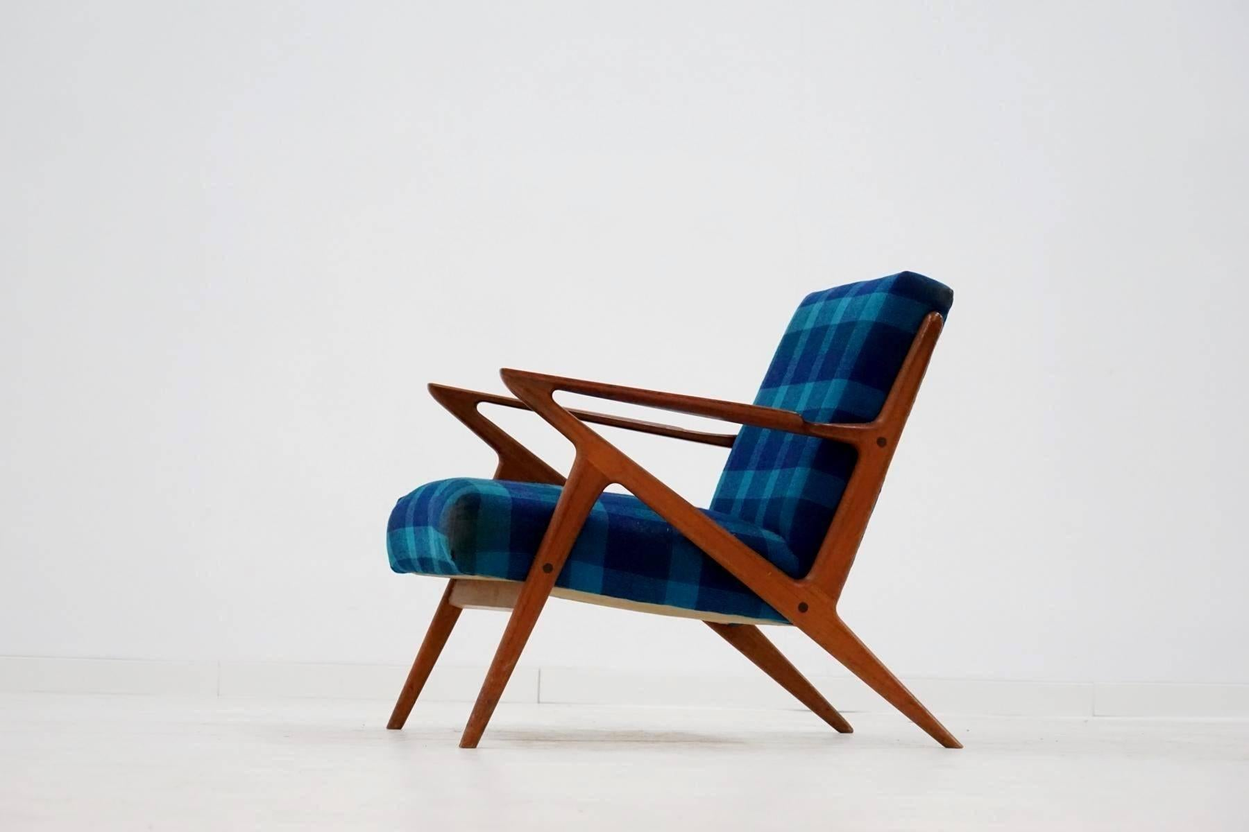 Z Lounge Armchair Chair By Poul Jensen And Selig Midcentury Danish Modern 1950s For At 1stdibs