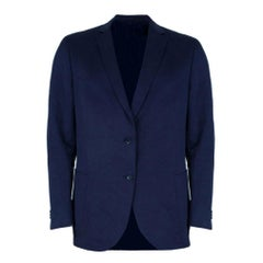 Z Zegna Navy Single Breasted Men's Blazer XL