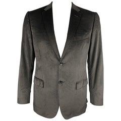 Z ZEGNA Size 40 Black Velvet Notch Lapel Sport Coat