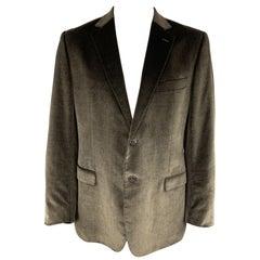 Z ZEGNA Size 46 Taupe Brown Velvet Notch Lapel Sport Coat