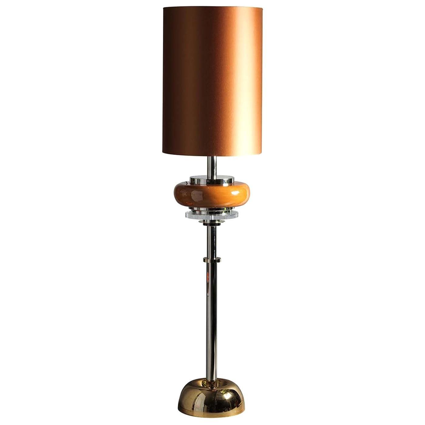 Z631 Golden Brass and Nickel Floor Lamp