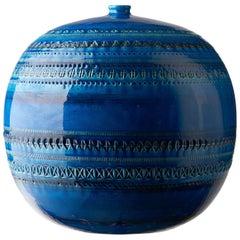 Z9990153 Ball Vase, Made in Italy, Collection Rimini Blu, Designer Aldo Londi